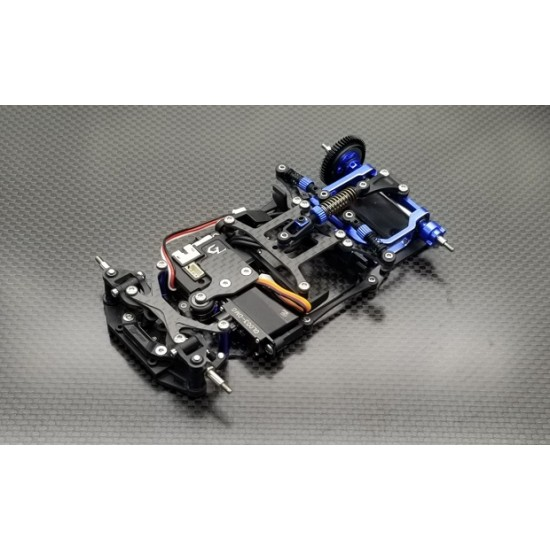 GLR 1/27  RWD LM CHASSIS-W/O RX